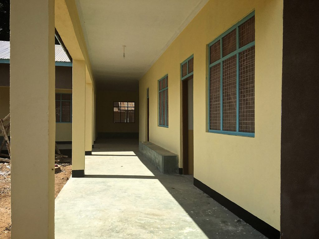 corredor view of Mnyambe dispensary new building