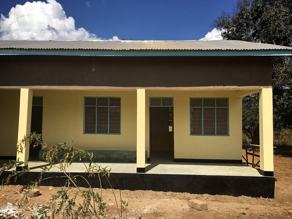 front view of Mnyambe dispensary new building