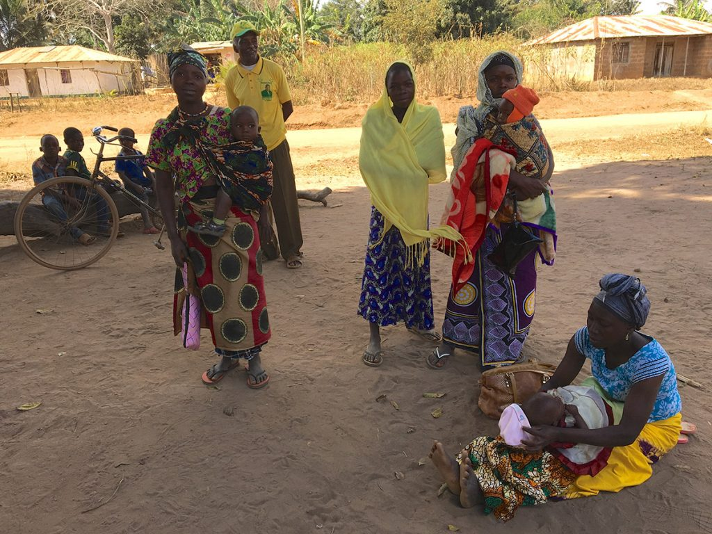 Mothers at south Tanzania waiting to be seen at Mnyambe dispensary new building